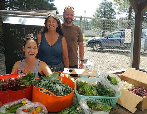 Harvest at Slow Food Lake Tahoe's Food Bank Garden located in Truckee, CA