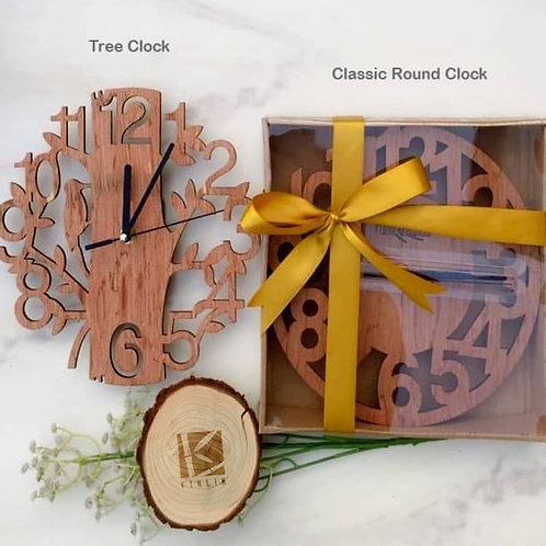 Birch Wood Clock