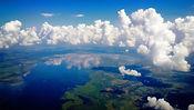 島の上空からの眺め
