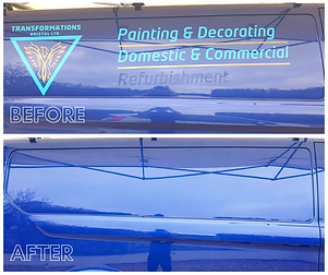 Sign Writing Removal Before & After