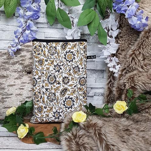 """Pochette pour livre """"Flower Vintage"""""""