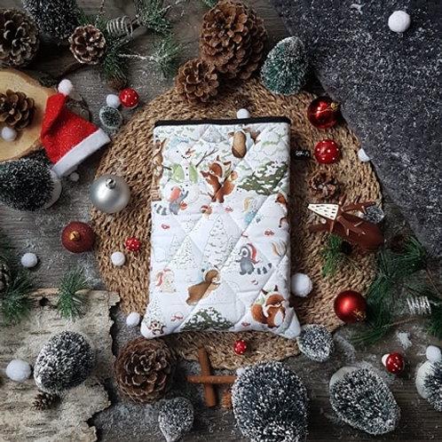 """Pochette pour livre """"Bonhomme de neige"""""""