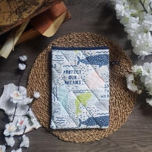 """Pochette pour livre """"Save the ocean"""""""