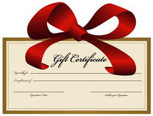 Holiday Gift Certificates Available!