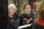 Having fun singing Christmas carols at MK Station, Decembe 2019