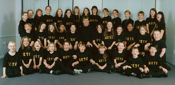 MK Youth Choir in 1999 with John Gibbons
