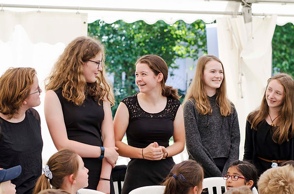 MK Youth choir girls laughing together