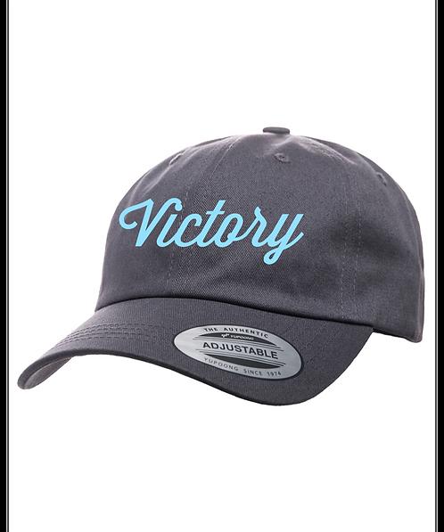 Grey & Lt. Blue VICTORY Cap