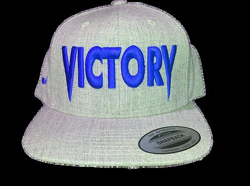 Grey & Blue Victory Snapback