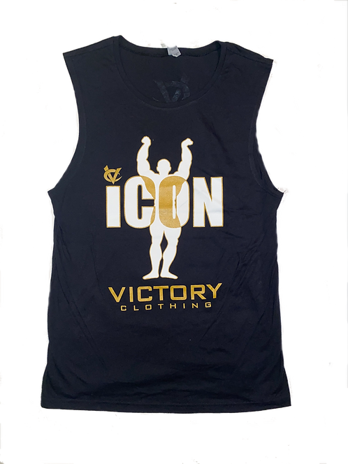 Black & Gold iCON Muscle Tank
