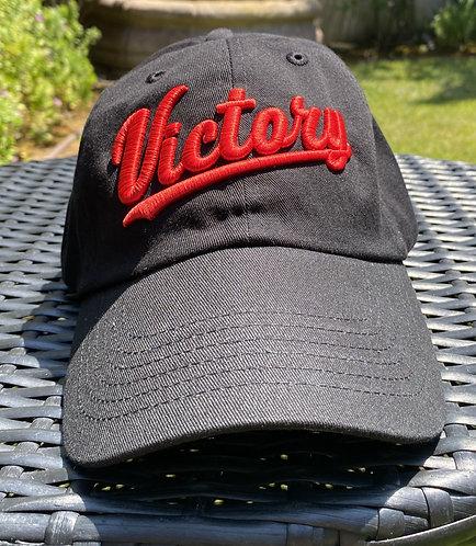 Black & Red Classic Dad's Cap