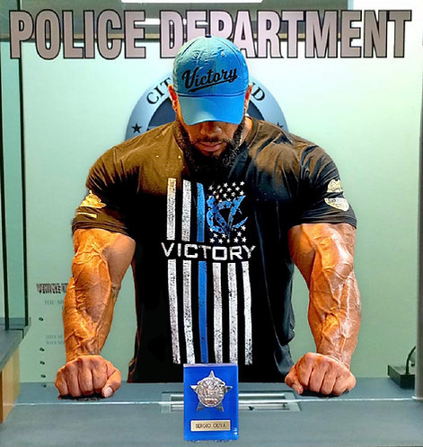 Victory Blue Stripe Police Tee