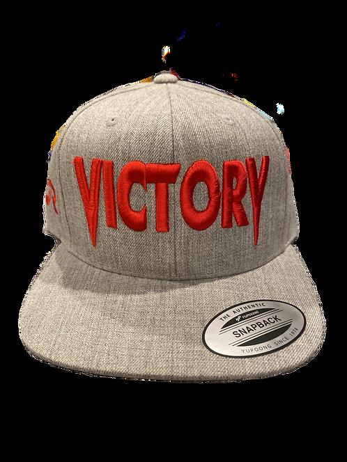 Grey & Red VICTORY Snapback