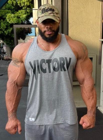 Victory Grey & Black Tank