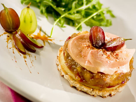 Tatin de foie gras au magret de canard