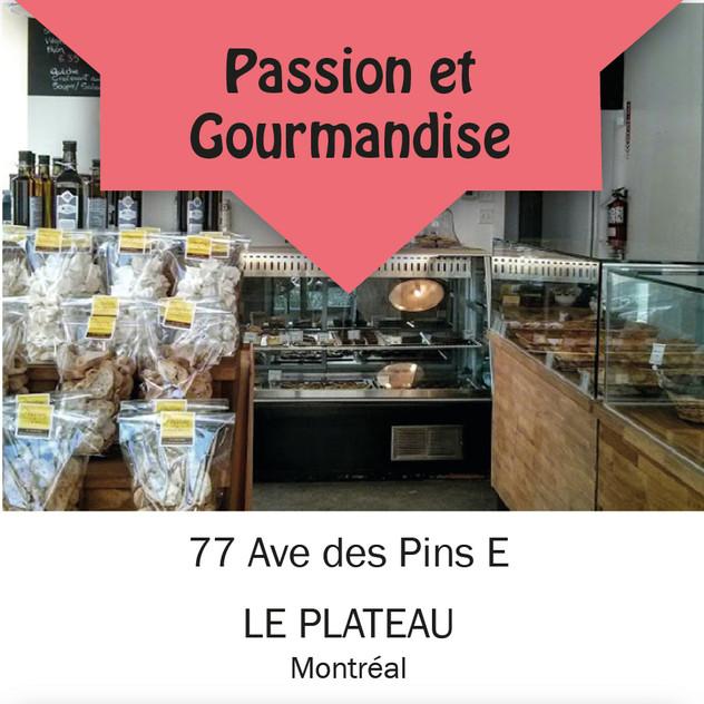 Passion et gourmandise