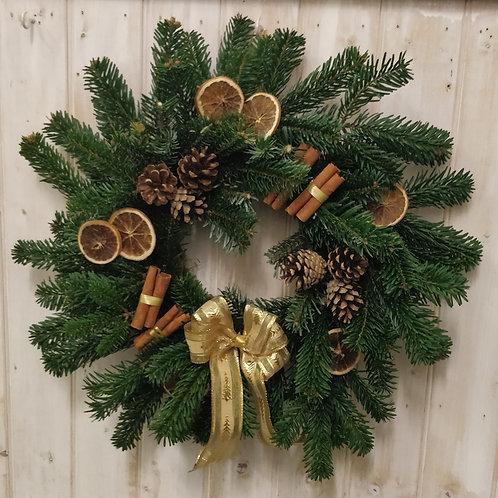 Medium pine wreath.