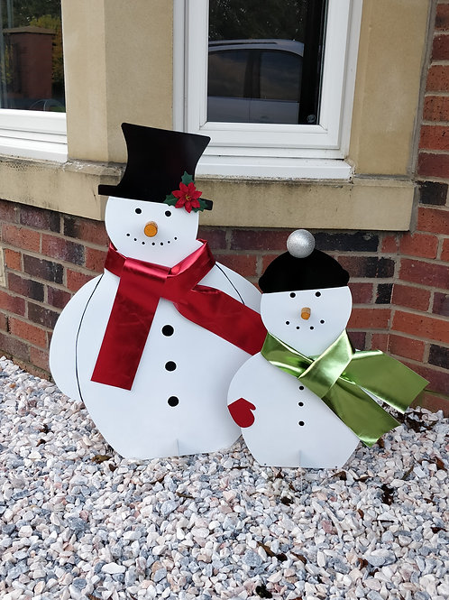 Snowmen Garden Decorations.