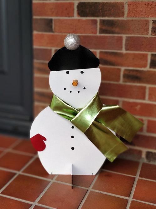 Small Snowman Garden Decoration.