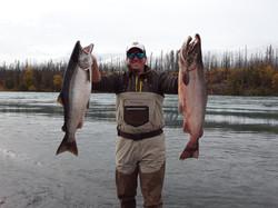 Kenai Coho fishing