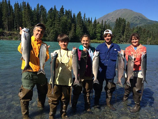 guided Alaska salmon fishing