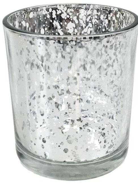Toni Silver mercury glass votive holders