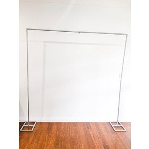 2.2m Backdrop frame silver