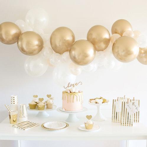 Balloon Garland Kit - DIY Gold & White