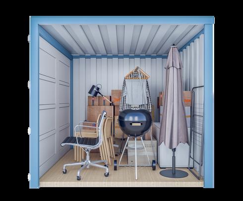 Conteneur de stockage S | 5 m² - vue latérale