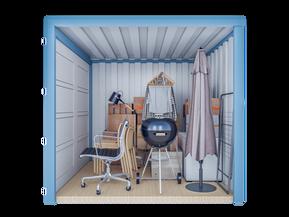 Opslagcontainer S | 5 m² - zijaanzicht