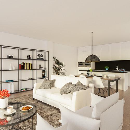 Visualisatie Appartement 5 Keuken
