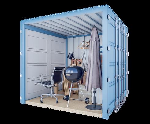 Conteneur de stockage S | 5 m² - vue à 45 °