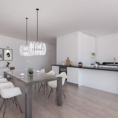 Visualisatie Appartement 7 Keuken