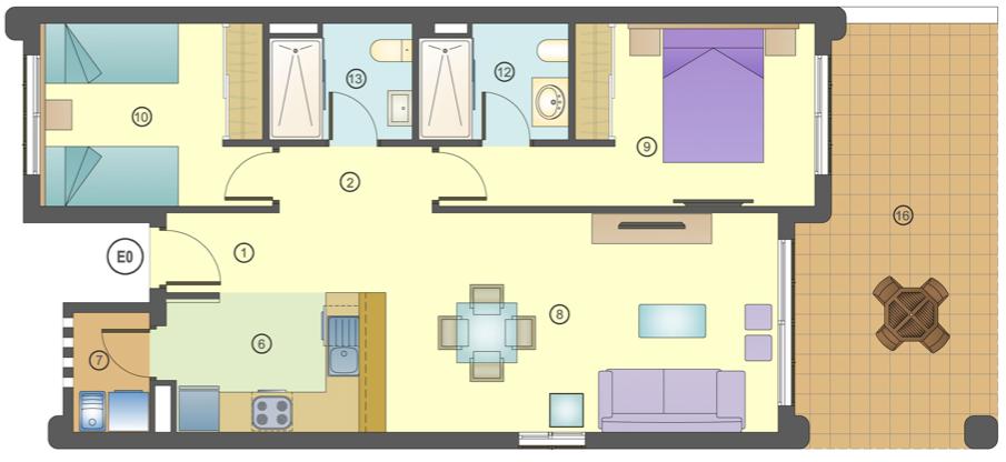 Mar De Pulpi Appartement 4