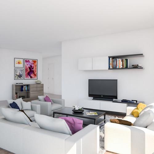 Visualisatie Appartement 4 Woonkamer