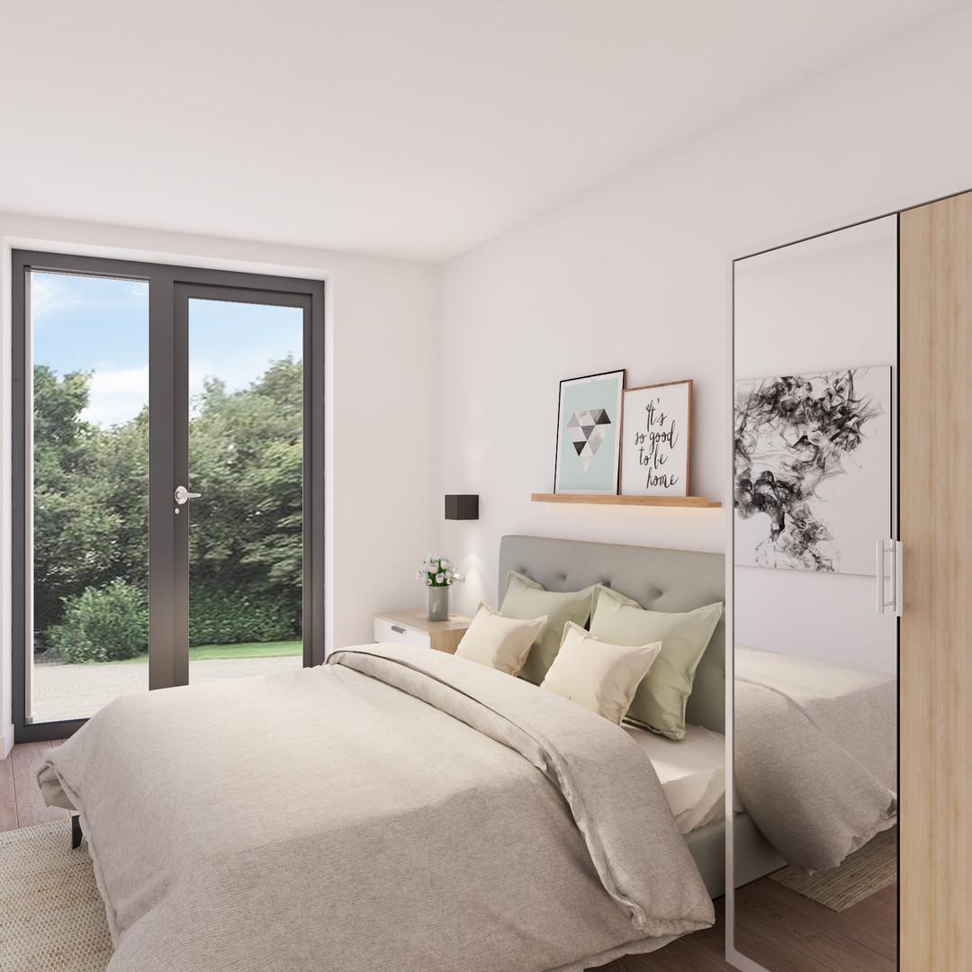 gelijkvloers rechts slaapkamer