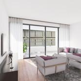 Visualisatie Appartement 2 Woonkamer