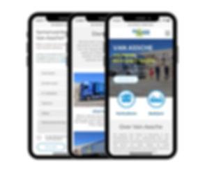 Mobiel geoptimaliseerde website