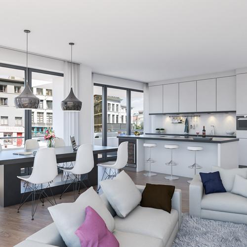 Visualisatie Appartement 4 Keuken
