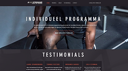 Website voor personal training