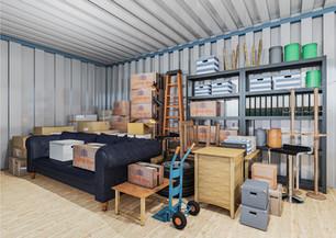 Opslagcontainer L | 14 m² - binnenzicht