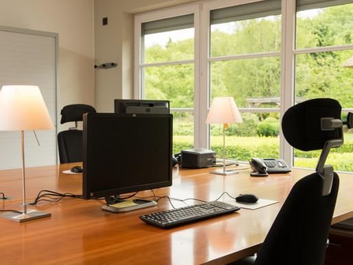 Voltijds telewerken van thuis niet uw ding? Bekijk onze veilige kantoor oplossingen.
