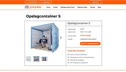 Website voor opslagcontainer verhuur