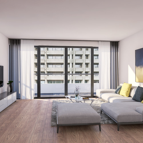 Visualisatie Appartement 7 Woonkamer