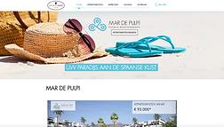 Website voor vastgoed te verkopen