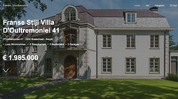 Vastgoed website Villa for sale