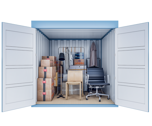 Conteneur de stockage S | 5 m² - vue de face