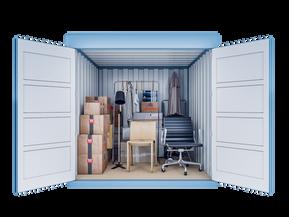 Opslagcontainer S | 5 m² - vooraanzicht