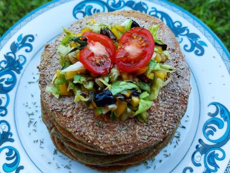 Pancakes salés (vegan, sans gluten)