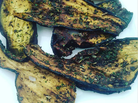 Chips d'aubergine (rawfood)
